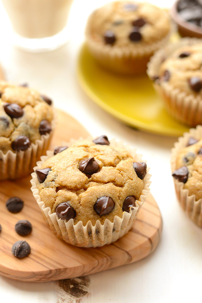 Banana Chocolate Chip Muffins Healthy  Healthy Banana Chocolate Chip Muffins Fit Foo Finds