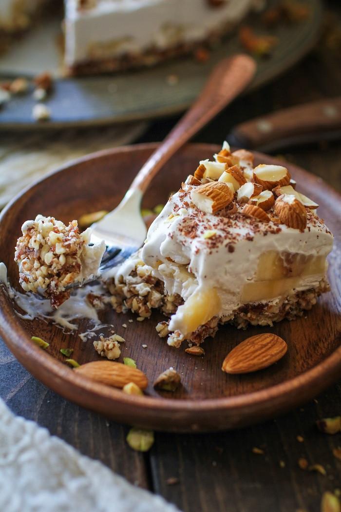 Banana Desserts Healthy  No Bake Vegan Banana Cream Pie Paleo The Roasted Root