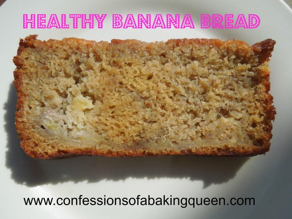 Banana Oat Bread Recipe Healthy  Oat Flour Banana Bread Confessions of a Baking Queen