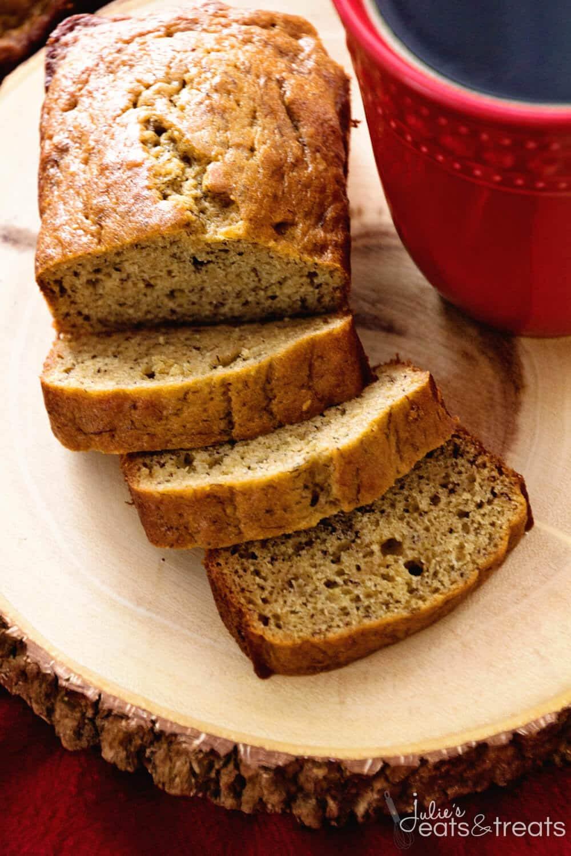 Banana Recipes Healthy  Healthy Banana Bread Recipe Julie s Eats & Treats
