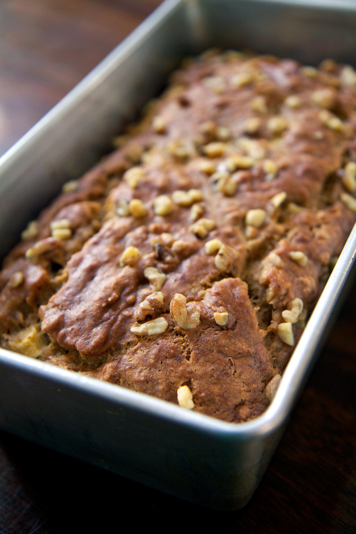 Banana Recipes Healthy Easy  Easy And Healthy Vegan Banana Apple Chunk Bread Recipe