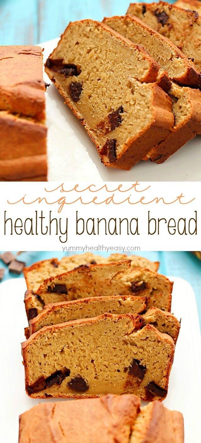Banana Recipes Healthy Easy  Secret Ingre nt Healthy Banana Bread Recipe Yummy