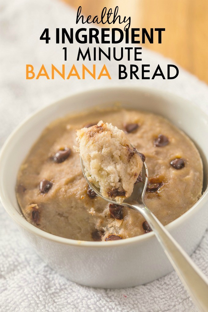 Banana Recipes Healthy  Healthy 1 Minute Banana Bread