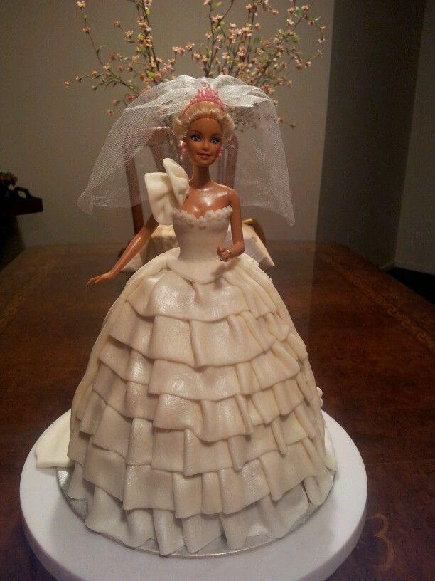 Barbie Wedding Cakes  Barbie wedding dress cake Annie cake