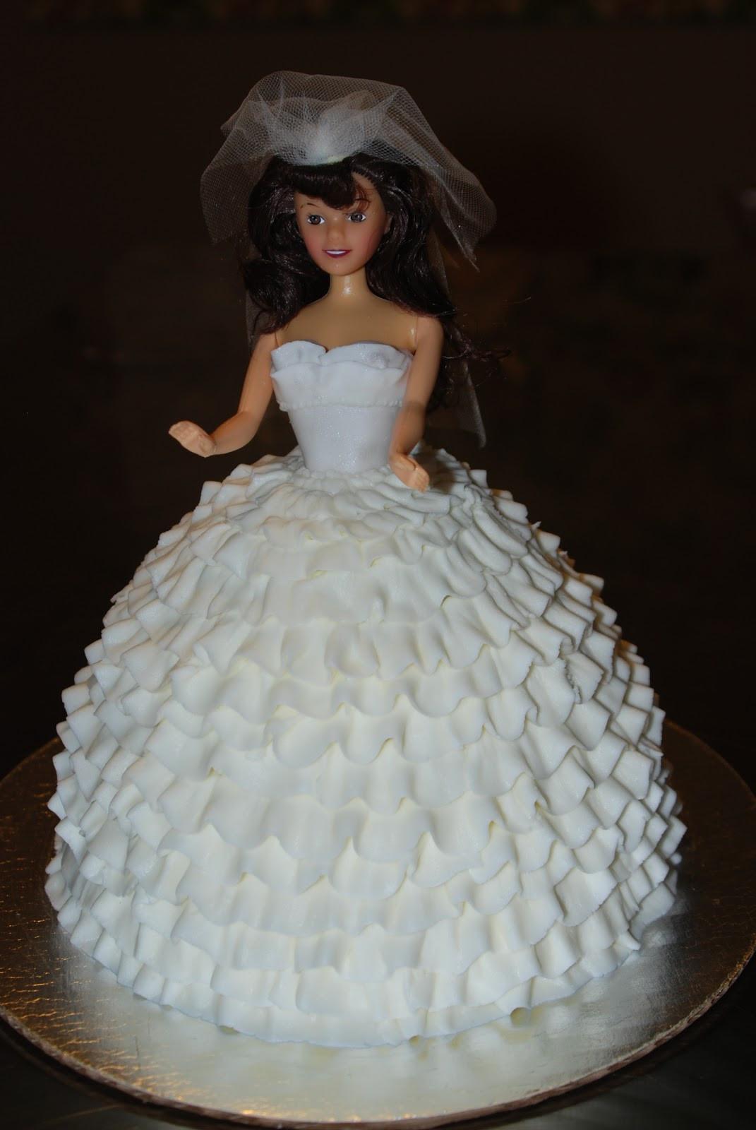 Barbie Wedding Cakes  Barbie Bridal Shower Cake