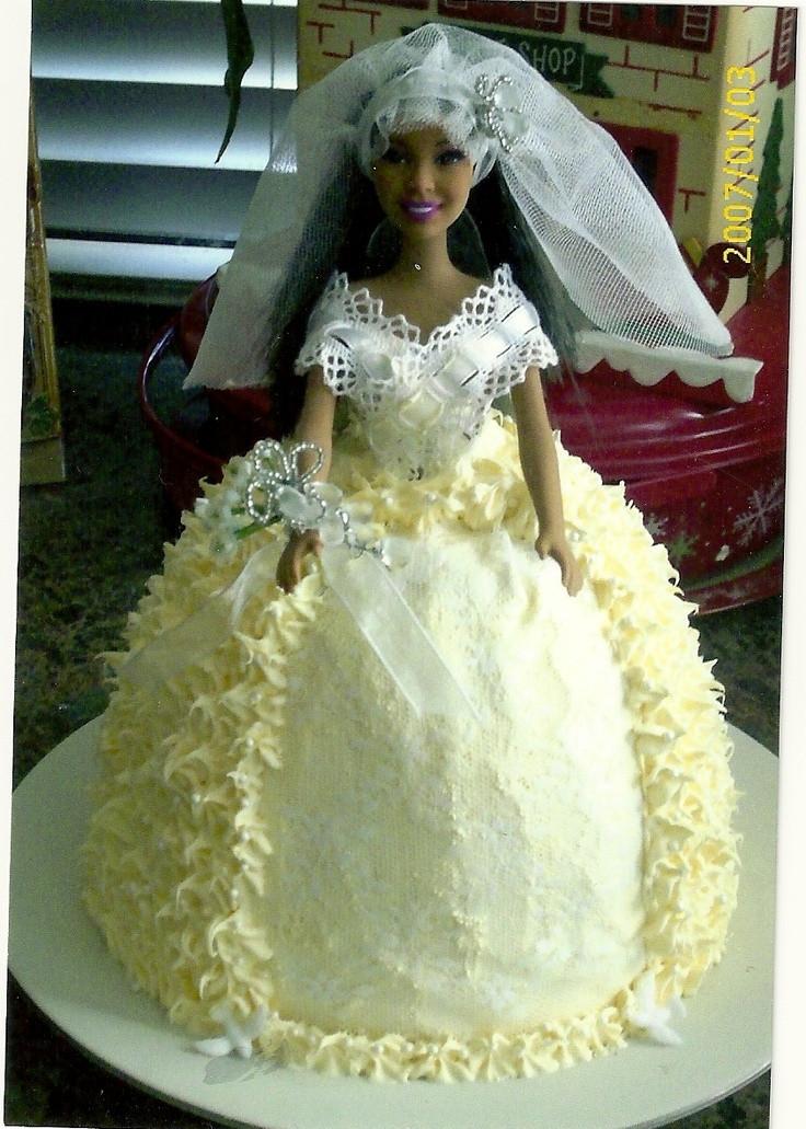 Barbie Wedding Cakes  Barbie wedding cakes idea in 2017