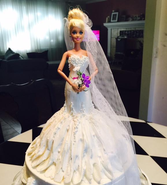 Barbie Wedding Cakes  Frosted Art Wedding Barbie Doll Cake Cake Decorating