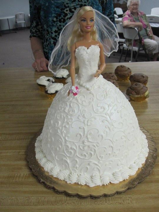 Barbie Wedding Cakes  Barbie Wedding Cake Wedding and Bridal Inspiration