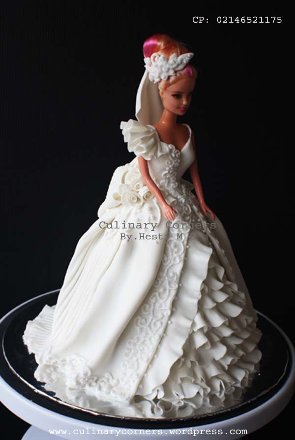 Barbie Wedding Cakes  Barbie wedding cake