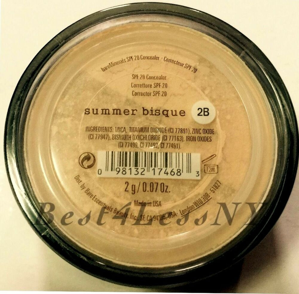Bare Mineral Summer Bisque  Bare Escentuals bare minerals concealer SUMMER Bisque 2g