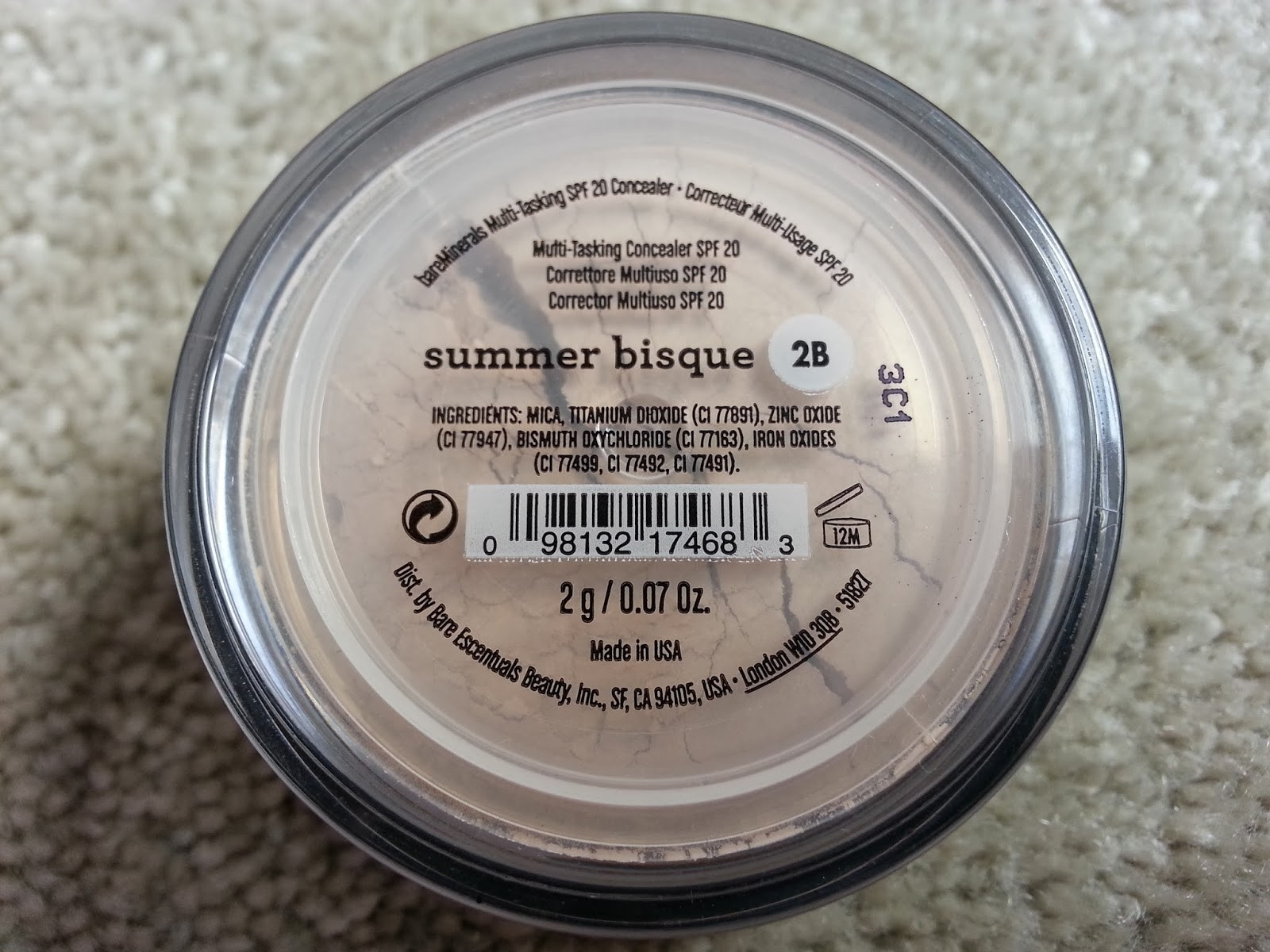 Bare Mineral Summer Bisque  Beauty Makeup Etc bareminerals concealer