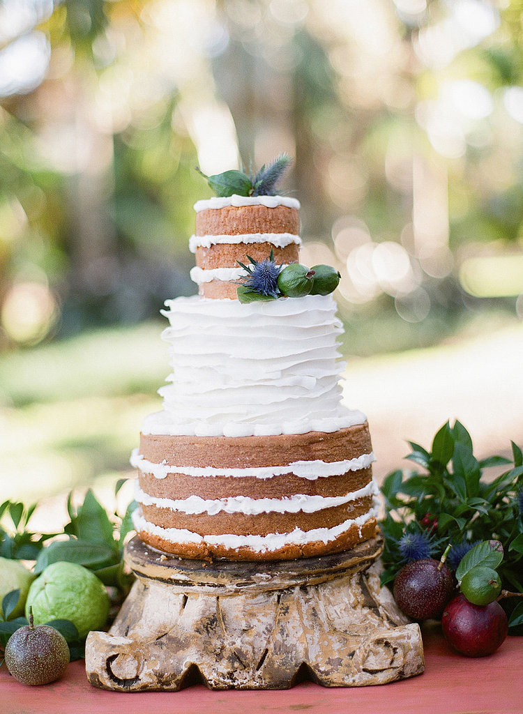 Bare Wedding Cakes  Frosted Sectional Cake