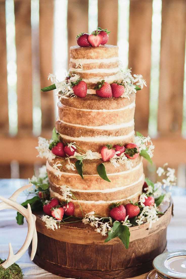 Bare Wedding Cakes  The 24 Best Country Wedding Ideas