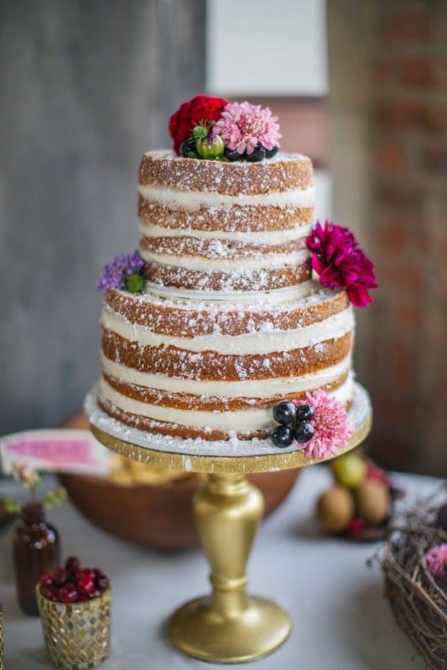 Bare Wedding Cakes  Go Naked With 21 Frosting Free Wedding Cakes