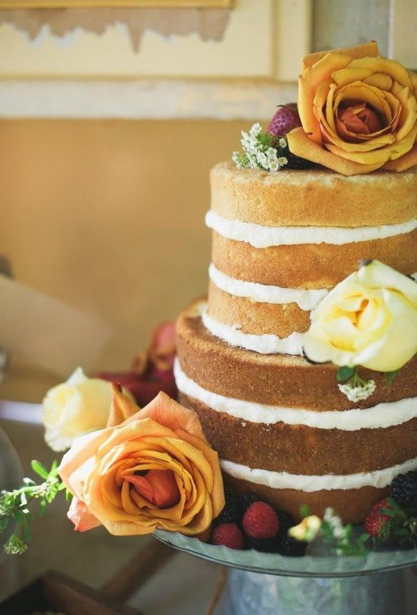 Bare Wedding Cakes  Naked Wedding Cakes Inspiration The I Do Moment
