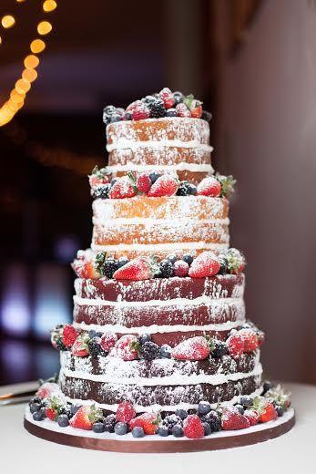 Bare Wedding Cakes  Winter Naked Wedding Cake Inspiration Hot Chocolates Blog