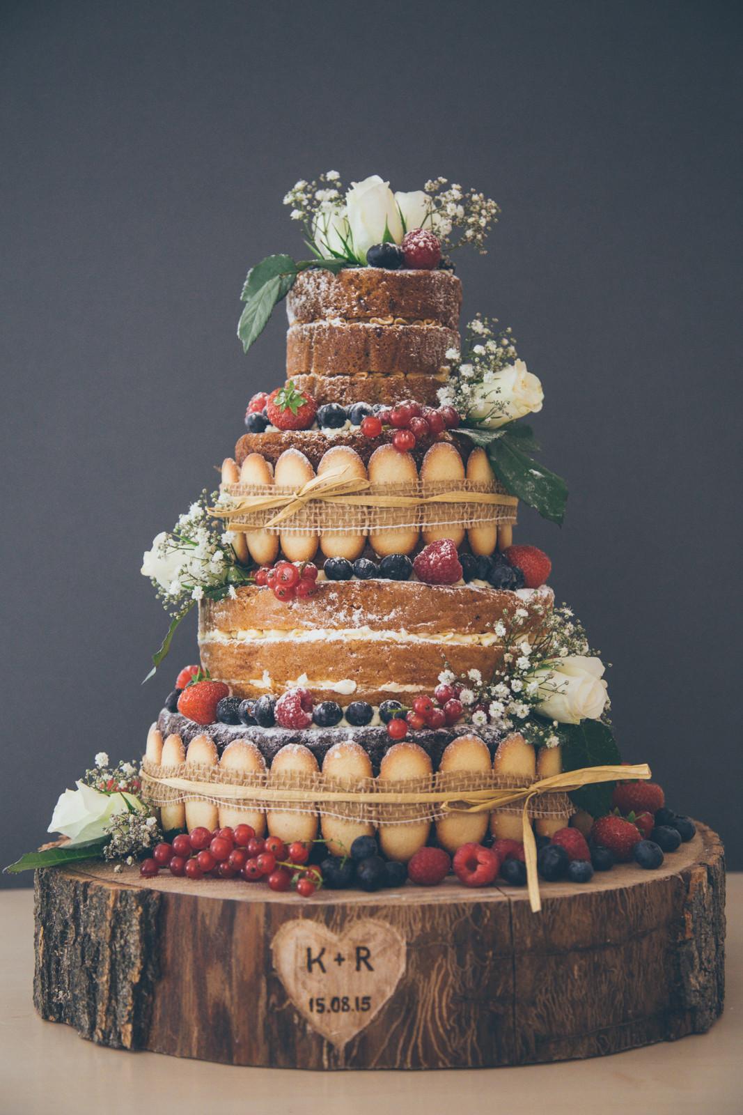 Bare Wedding Cakes  Six Naked Wedding Cake Ideas