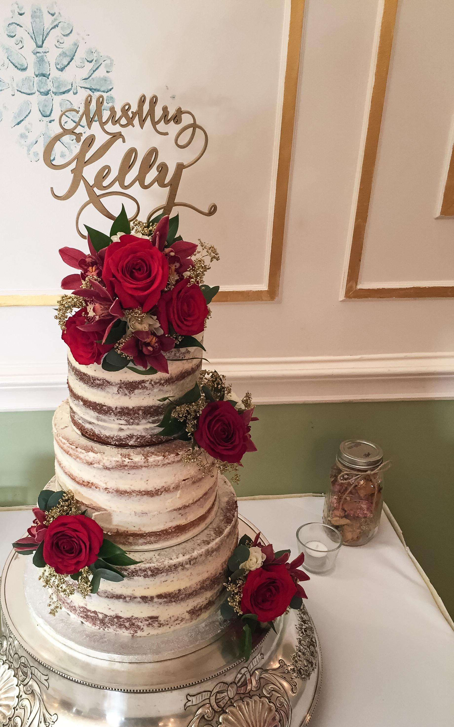 Bare Wedding Cakes  Naked & Semi Naked Wedding Cakes – Kelly Lou Cakes