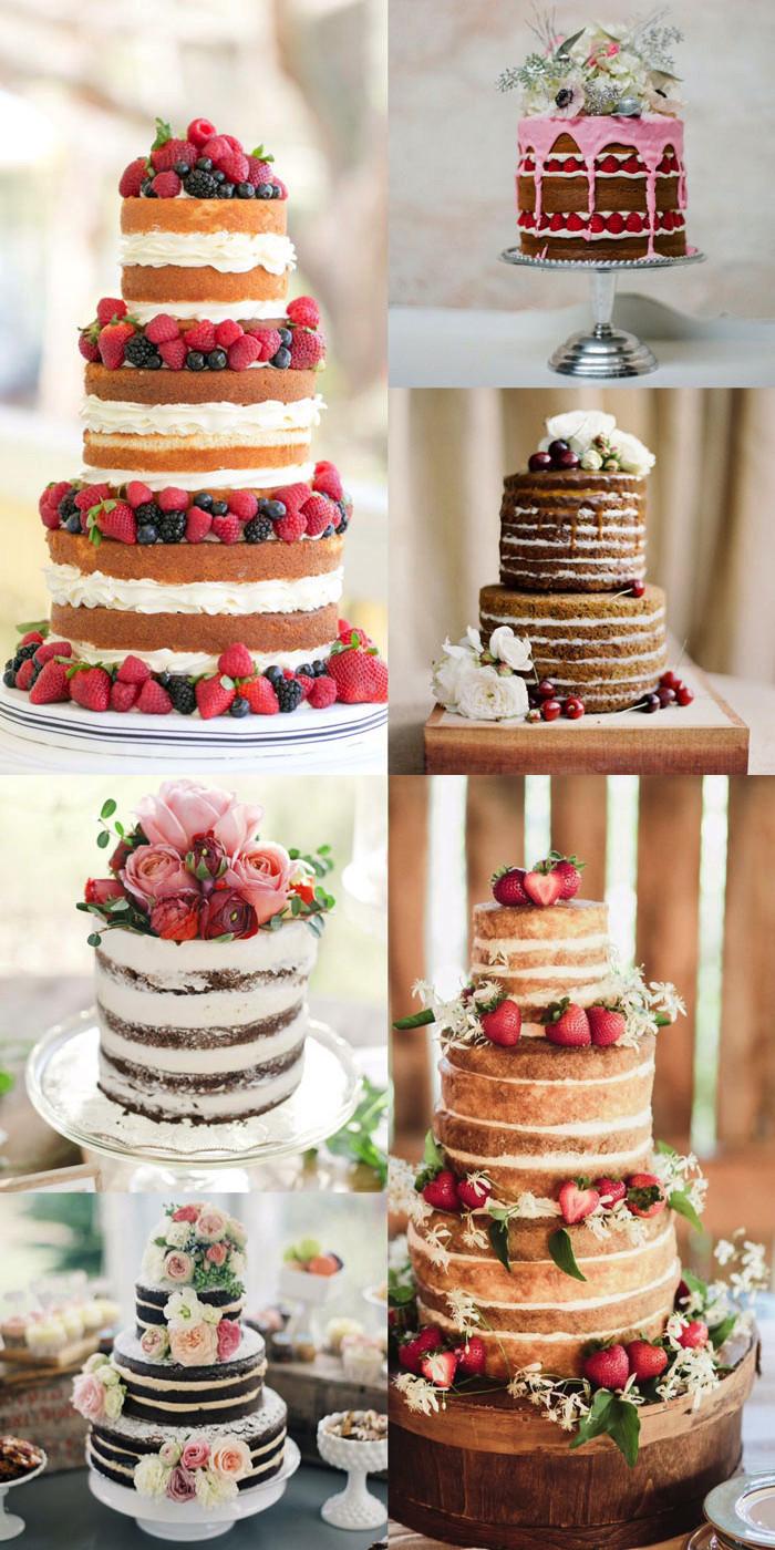 Bare Wedding Cakes  Wedding Trend Naked Cakes