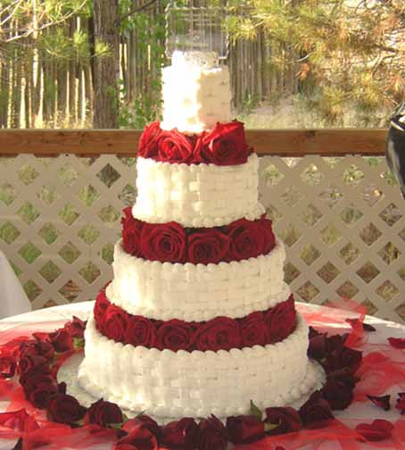 Basket Weave Wedding Cakes  Basket Weave Wedding Cake Wedding and Bridal Inspiration