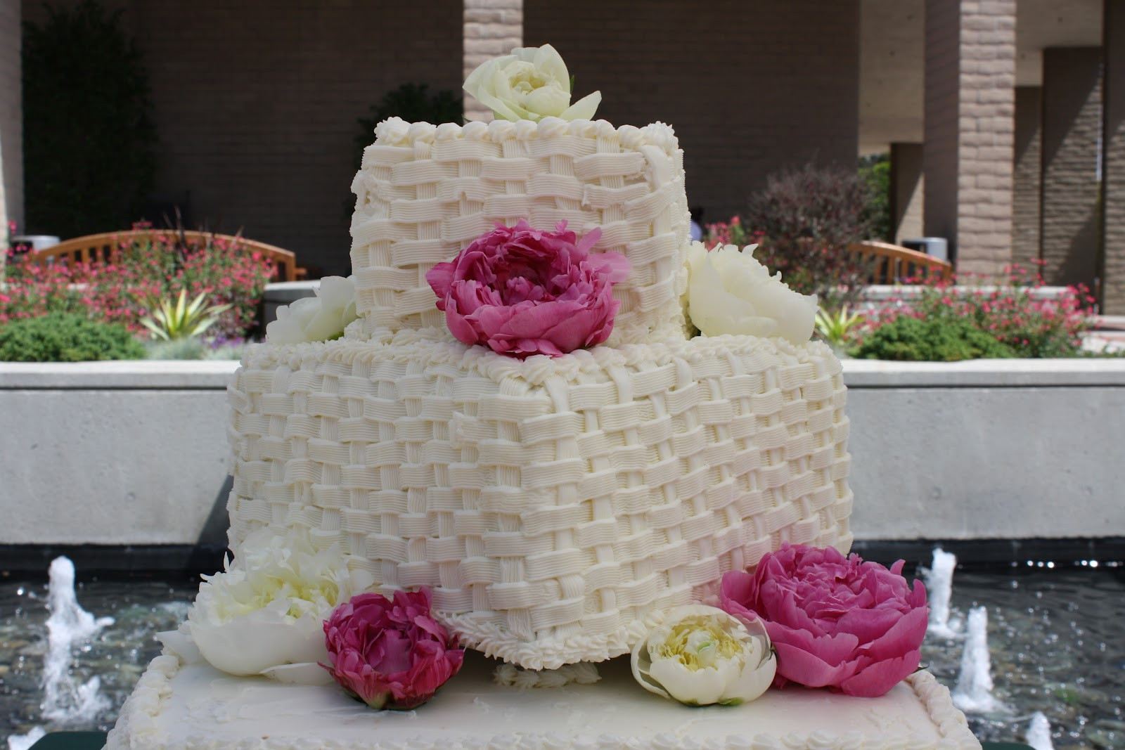 Basket Weave Wedding Cakes  Cakes by Victoria Clare Basket Weave Wedding Cake