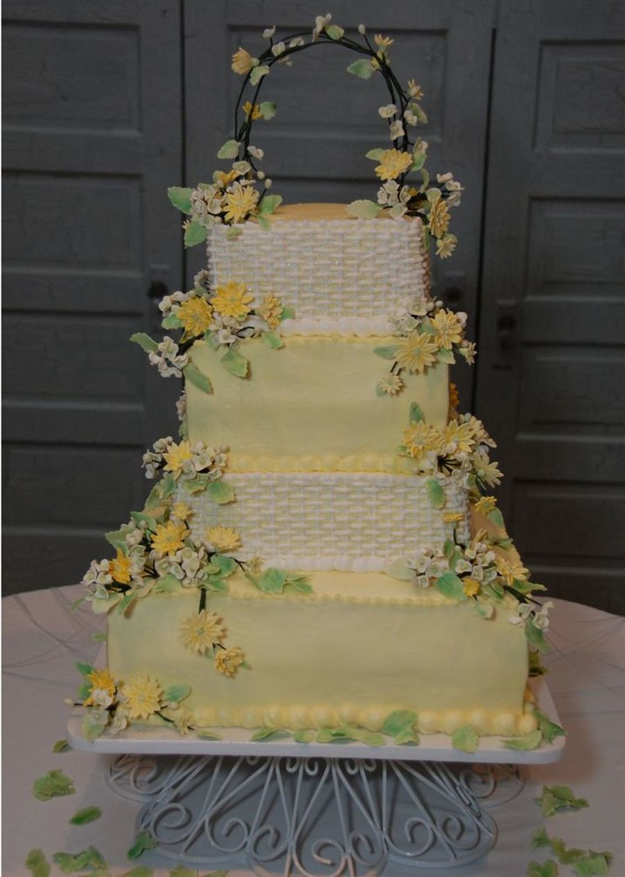 Basket Weave Wedding Cakes  Basket Weave Wedding Cake CakeCentral