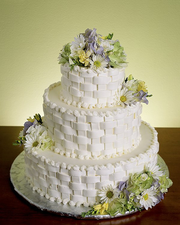 Basket Weave Wedding Cakes  Elegant Wedding Cakes 1st Two