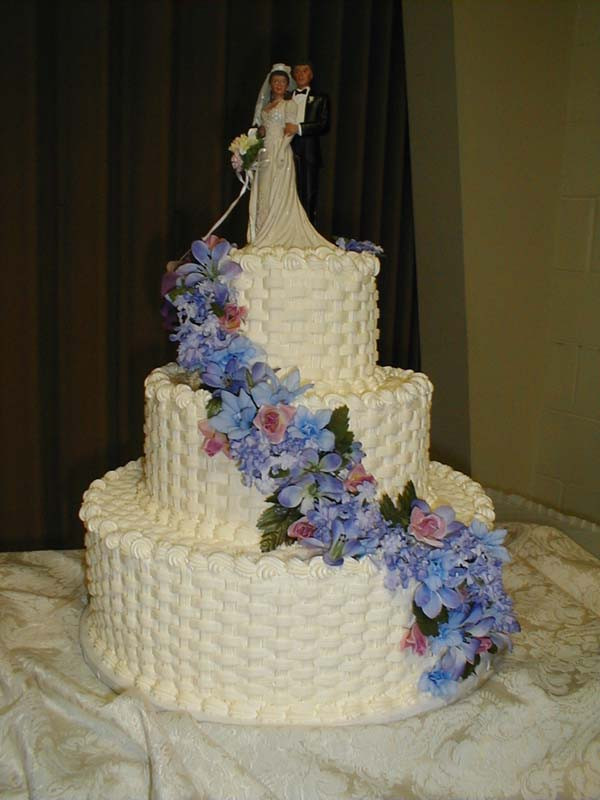 Basket Weave Wedding Cakes  Wedding Cakes