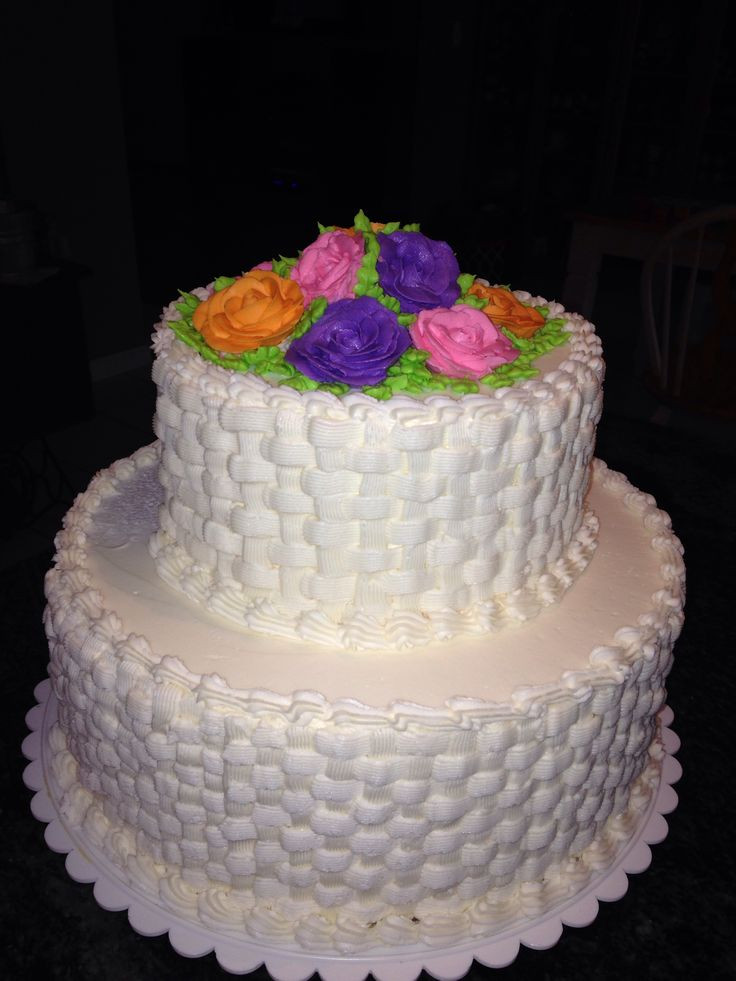 Basket Weave Wedding Cakes  Basket weave wedding cake idea in 2017