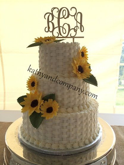 Basket Weave Wedding Cakes  Buttercream basket weave wedding cake with sugar