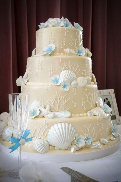 Beach Themed Wedding Cakes  Beach Wedding Cake Decorations