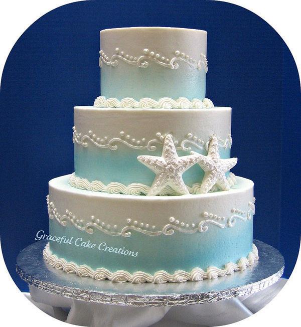 Beach Themed Wedding Cakes  anillla Beach Weddings