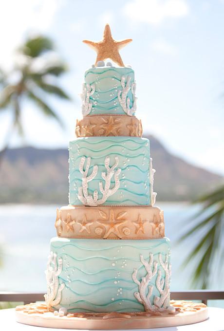 Beach Themed Wedding Cakes  beach wedding cakes