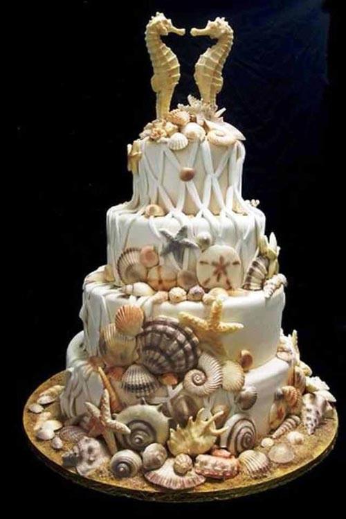 Beach Wedding Cakes  11 Spectacular Designs Beach Wedding Cake