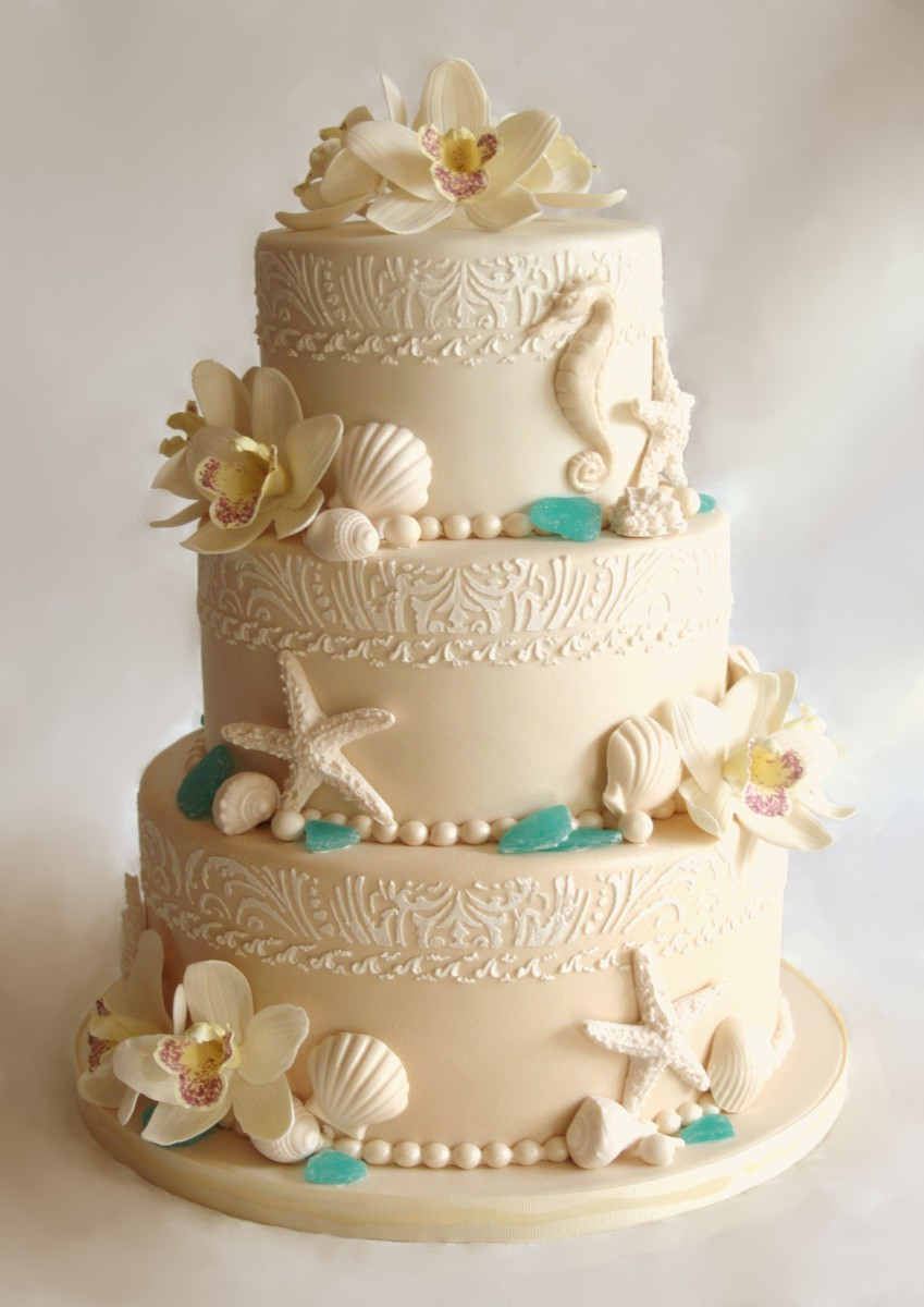 Beach Wedding Cakes Pictures  beach wedding cake Cake Decorating munity Cakes We
