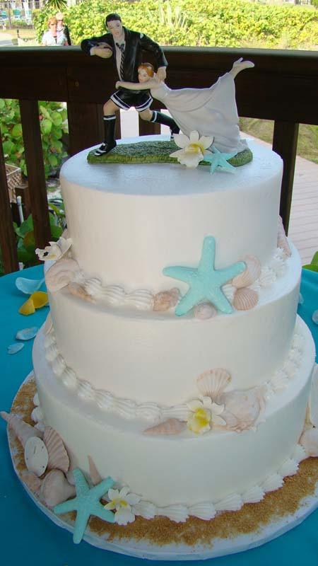 Beach Wedding Cakes Pictures  Beach Wedding Cakes