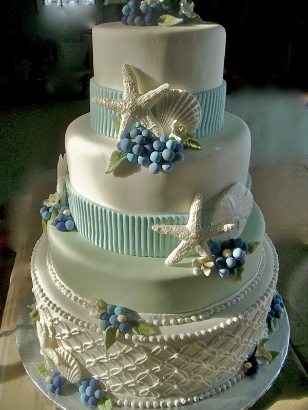 Beach Wedding Cakes Pictures  Wedding Cakes
