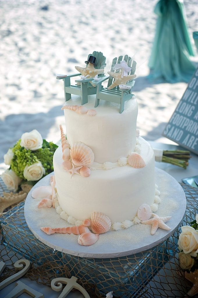 Beach Wedding Cakes Pictures  Simple Beach Wedding Cakes