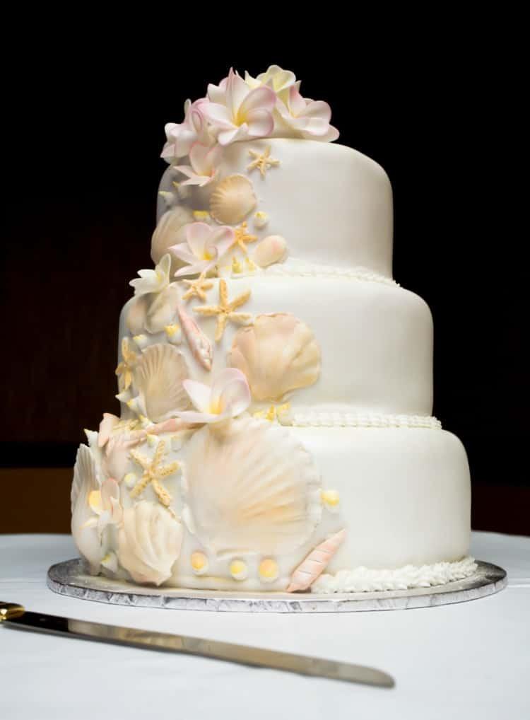 Beach Wedding Cakes  Beach Wedding Cake Ideas Destination Wedding Details