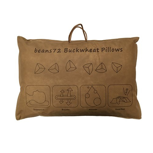 Beans72 Organic Buckwheat Pillow  Beans72 Organic Buckwheat Pillow Queen Size 20 inches x