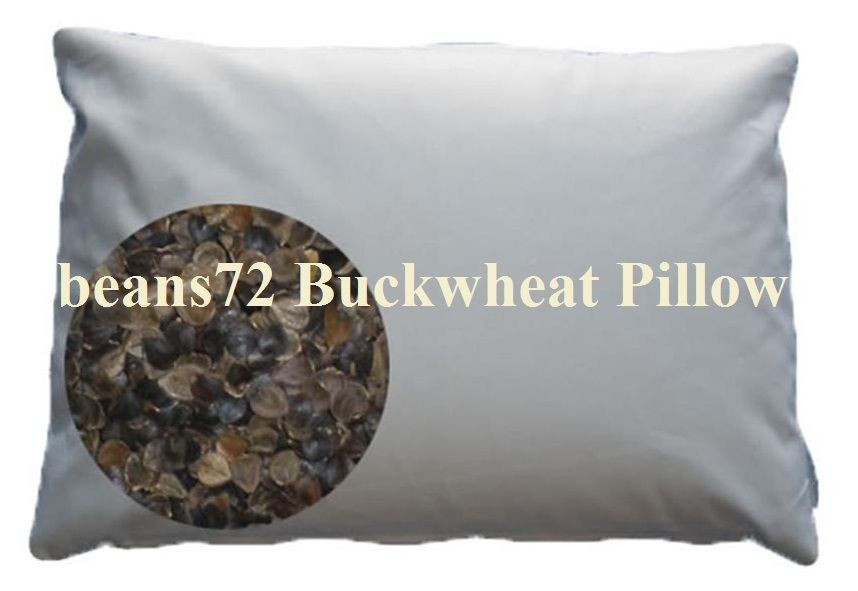 "Beans72 Organic Buckwheat Pillow  beans72 Organic Buckwheat Pillow Twin Standard size 20"" x"