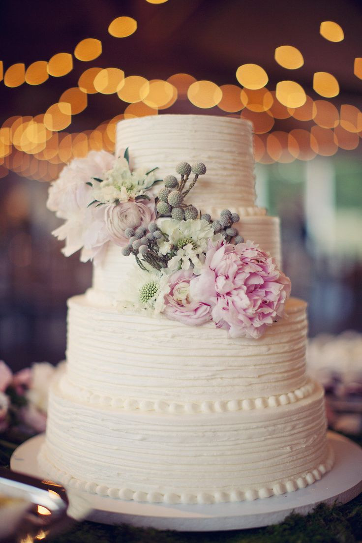 Beautiful Simple Wedding Cakes  White Oaks Ranch Wedding from Sarah Kate