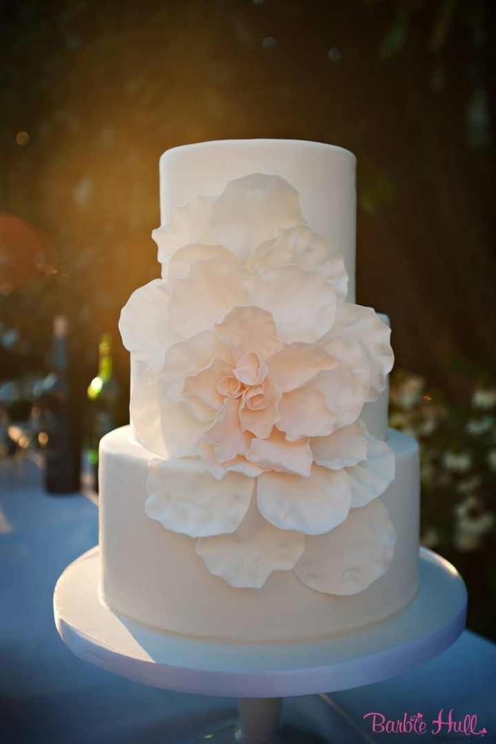 Beautiful Simple Wedding Cakes  Simple Wedding Cakes with Beautiful Details MODwedding