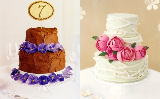 Beautiful Simple Wedding Cakes  beautiful cakes from real simple wedding 2009 – Lace & Tea