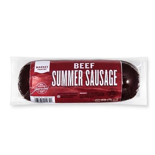 Beef Summer Sausage  Beef Summer Sausage 16 oz Market Pantry Tar