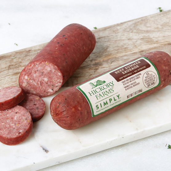Beef Summer Sausage  Hickory Farms Simply Natural Beef Summer Sausage