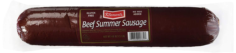 Beef Summer Sausage  Busch Summer Sausage Nutrition Facts – Nutrition Ftempo