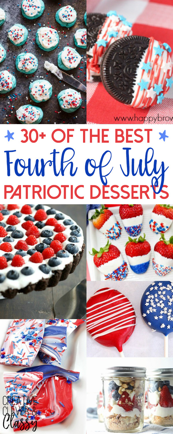 Best 4Th Of July Desserts  30 of the Best Patriotic Fourth of July Desserts for the