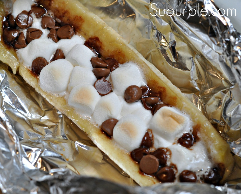 Best Camping Desserts  Banana Boats 3 Suburble