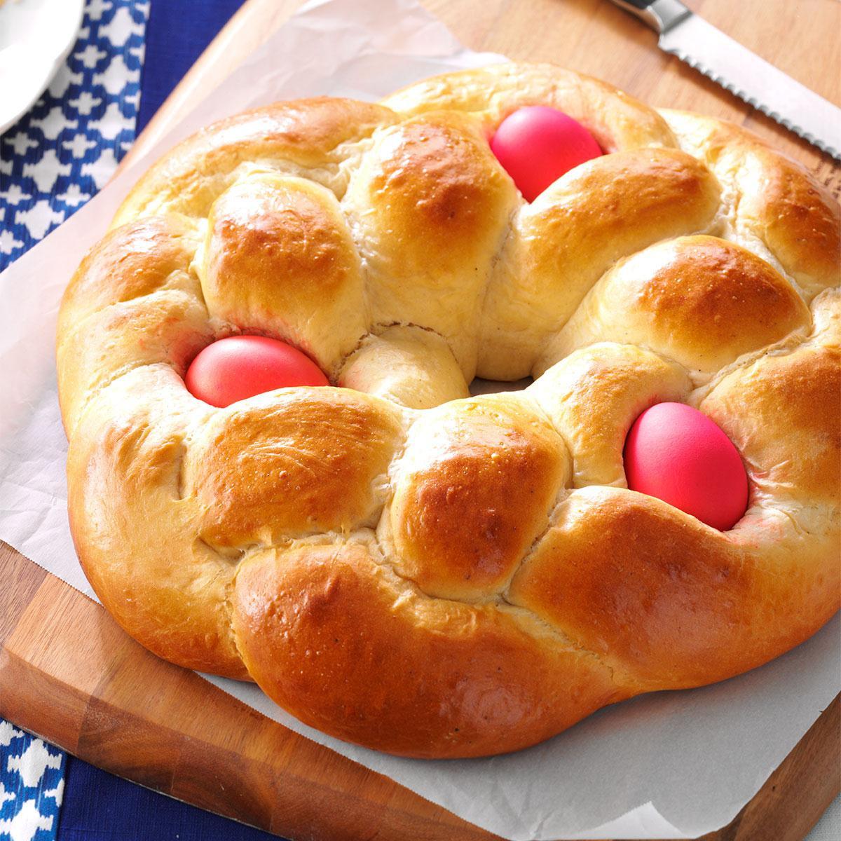 Best Easter Bread Recipe  Easter Egg Bread Recipe